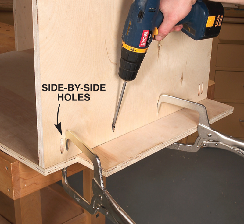 8. Install bottoms and shelves & AW Extra 7/5/12 - Tips for Building Cabinets with Pocket-Hole ...