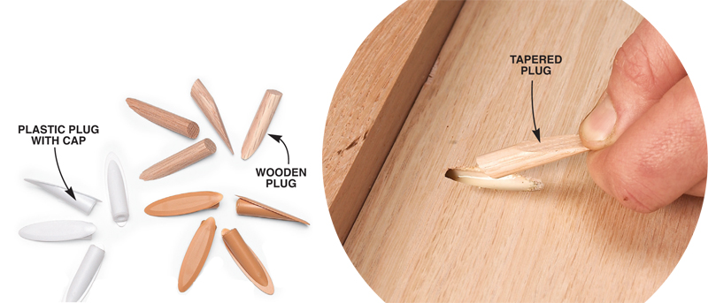 9. If you canu0027t hide u0027em plug u0027em  sc 1 st  Popular Woodworking Magazine & AW Extra 7/5/12 - Tips for Building Cabinets with Pocket-Hole ...