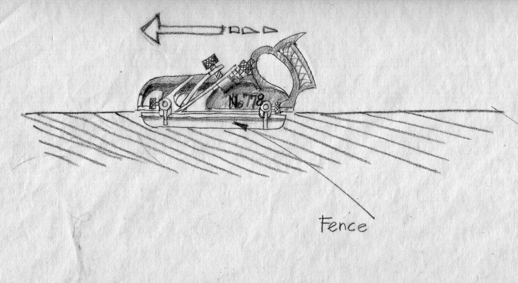 Rabbeting with the grain. The fence is placed on the left side of the plane body while the depth stop is on the right.
