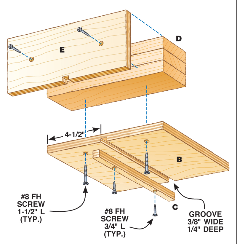 How to make box joints with a router table diy jig plans fig b sled keyboard keysfo Choice Image