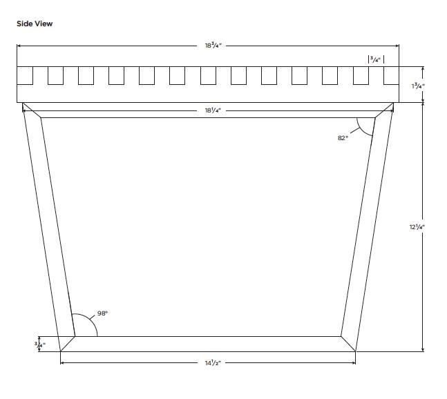 Platform Bench Side View