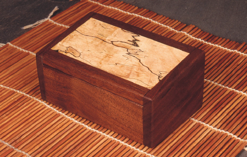 Walnut Box with Spalted Maple Inlay