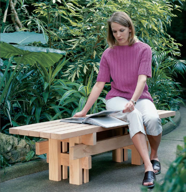 Combine Five 2x4s, A Handful Of Screws And A Long Afternoon To Build A  Handsome And Sturdy Sitting Spot For Your Deck Or Garden.