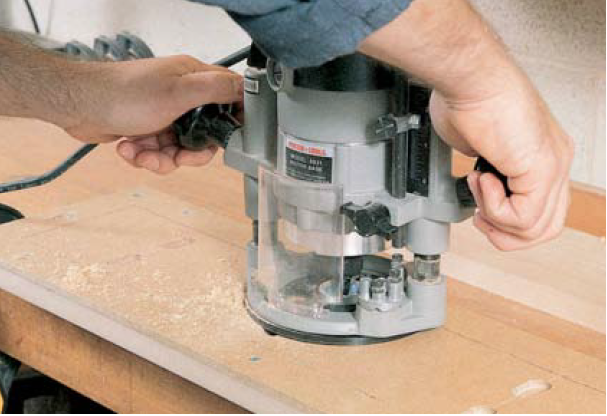 using router for cutting mortises