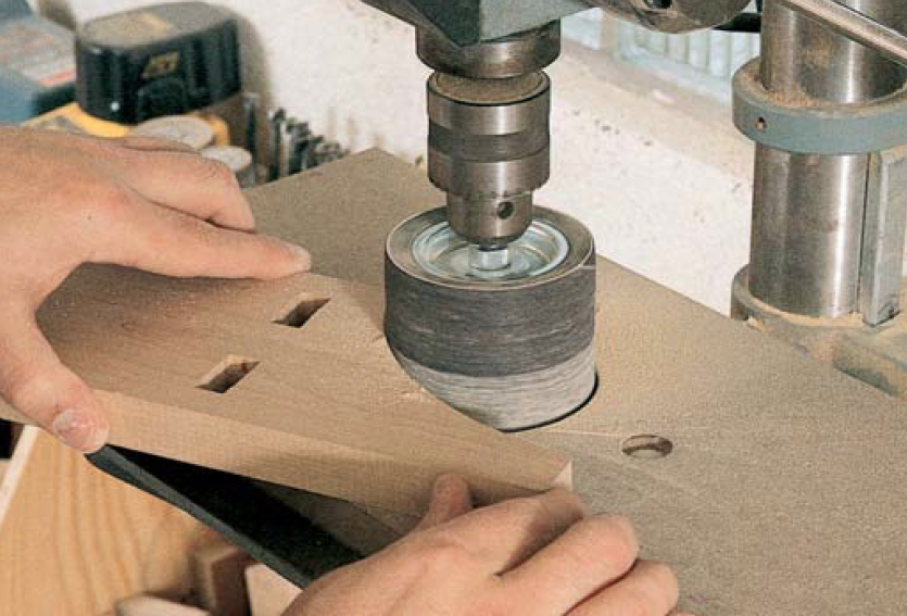 drum sander drill press insert