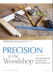 PRECISION in the Woodshop