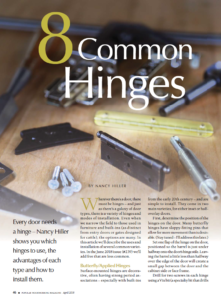 Eight Common Hinges