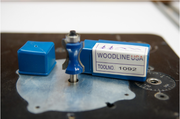 """A ¾"""" thumbnail router bit (Woodline WL-1092) with a top bearing bit is used to create the cloud lifted and pillowed profile."""