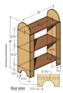 """Click on the image for your free """"Shaker Shelves"""" plan."""