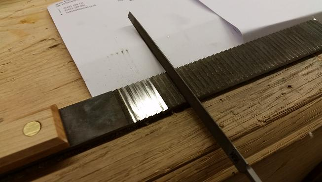 Sharpening a float