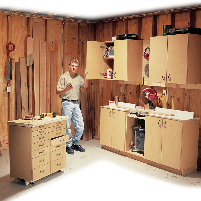 Simple all purpose shop cabinets popular woodworking magazine malvernweather Images