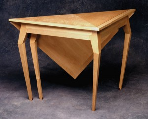 """New tradition. Miller's """"spider"""" handkerchief table has traditional lines that have been altered for modern homes. Note the cabriole legs with their hard arrises."""