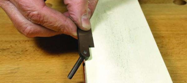 wooden spokeshave blade side sharpen