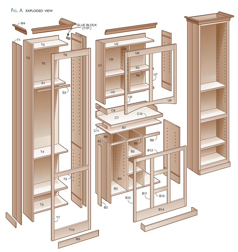 plans for building kitchen cabinets sycamore pantry popular woodworking magazine 7502