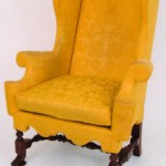 Comfortable and showy. The wing chair (or easy chair) became popular in the William & Mary period.