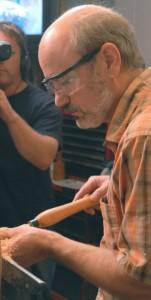 Tim Yoder turning at the lathe