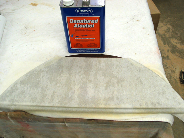 Stripping shallac or lacquer