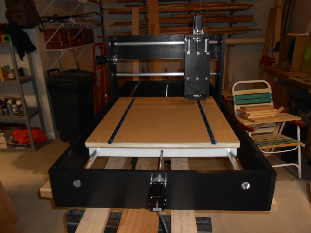 Tony from Build a CNC Router used t-track on his machine.