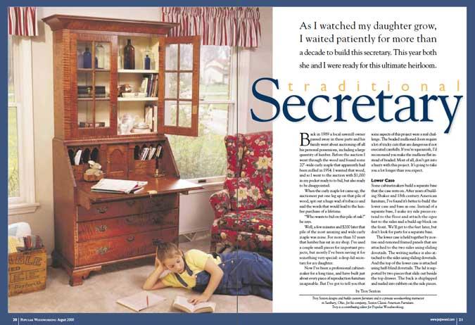 traditional secretary opening spread