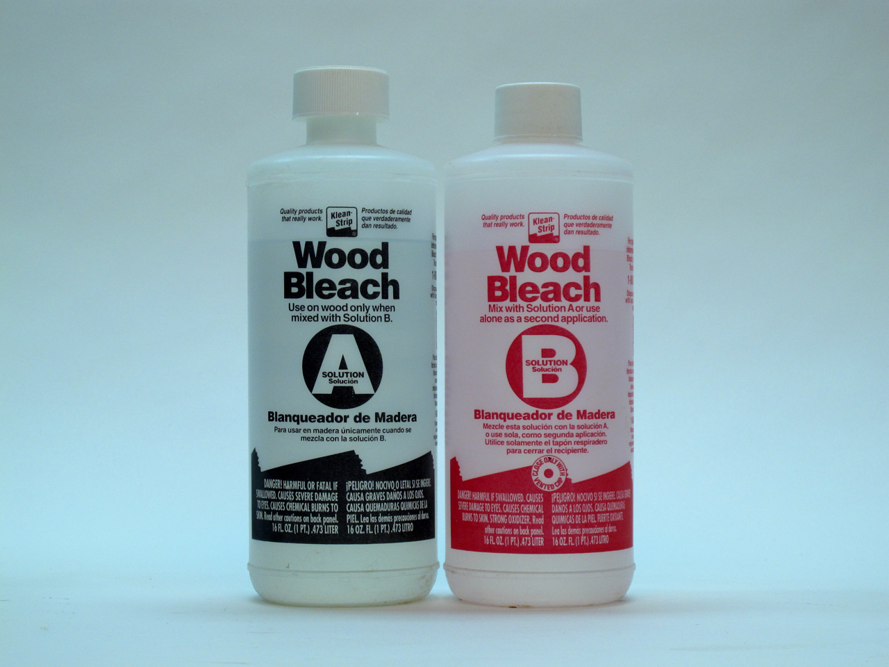 Two-part wood bleach