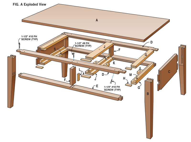 Two Drawer Coffee Table Popular Woodworking Magazine