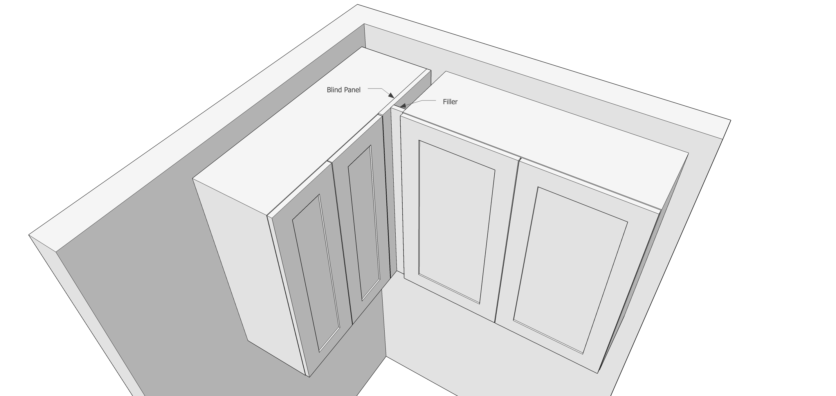 Using Fillers When Designing Kitchen Cabinets - Popular Woodworking ...