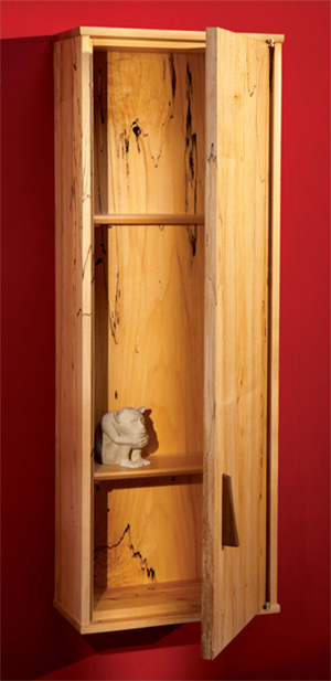 Delicieux Wall Cabinet Of Maple / How To Install Knife Hinges   Popular Woodworking  Magazine