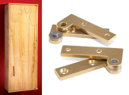 Superieur Wall Cabinet Of Maple / How To Install Knife Hinges