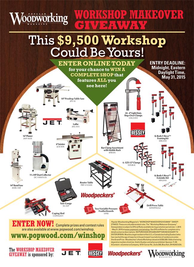 2016 Popular Woodworking Workshop Makeover Giveaway ...