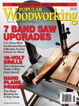 April 2008 Issue Popular Woodworking