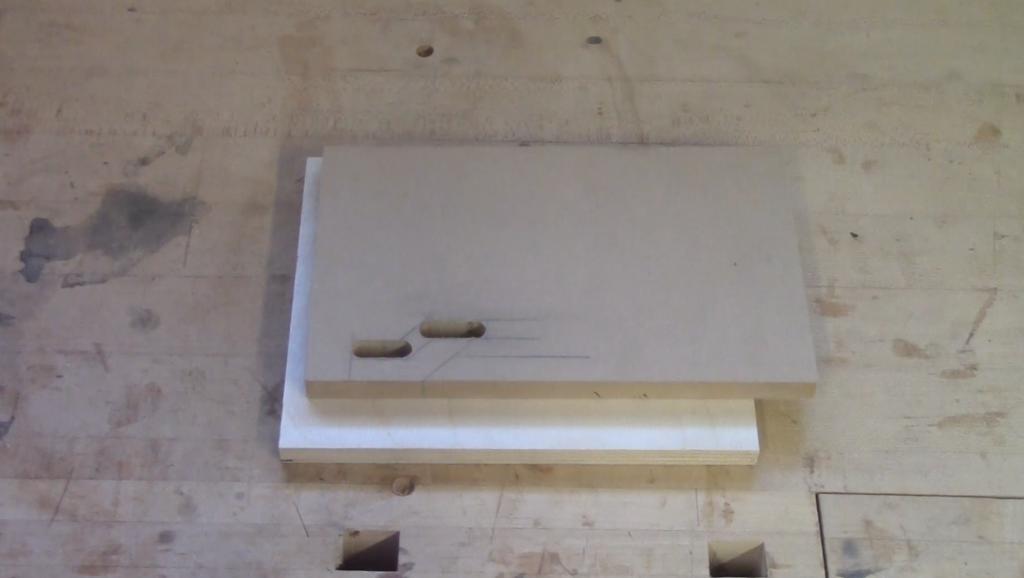 """7. Remove the waste between your lines for the bottom and top section at the router table with a 3/8"""" diameter bit"""