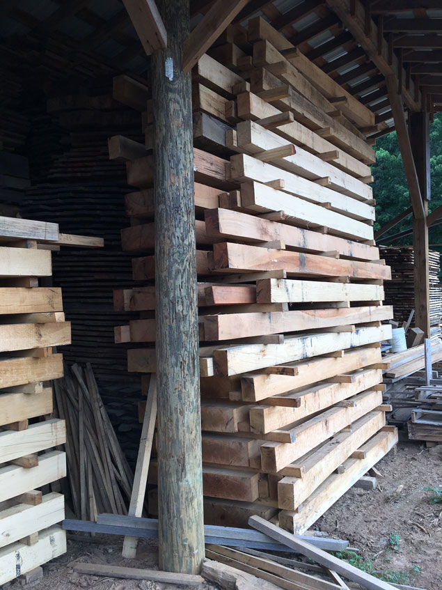 Roubo bench kits that are ready to ship from Lesley Caudle's sawmill.