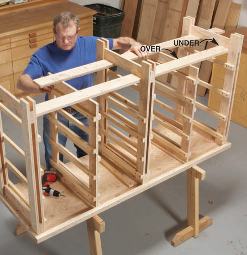 Plywood Garage Cabinet Plans: AW Extra – Big Capacity Storage Cabinet