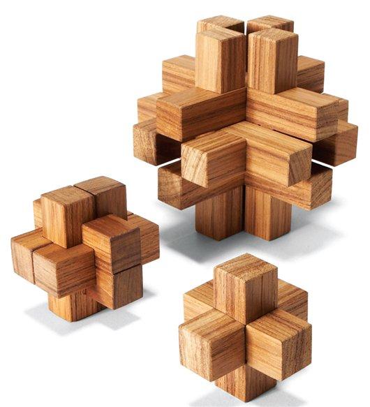 15 Piece Wooden Puzzle 3d Solution – Jerusalem House