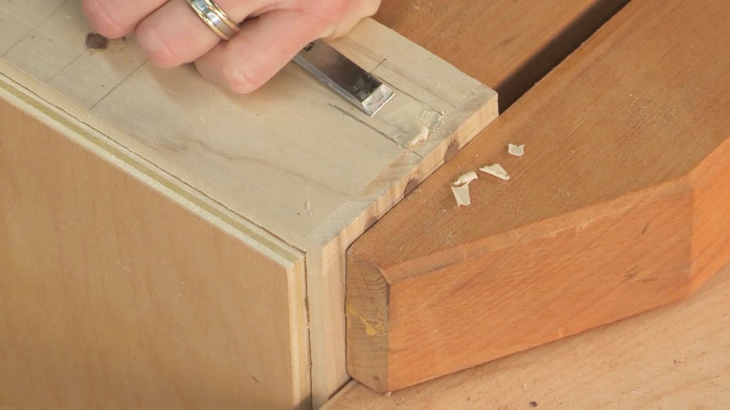 chisel out mortise