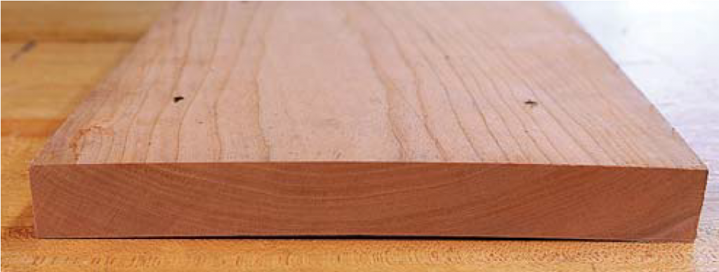 Breadboard ends help defeat cupping.