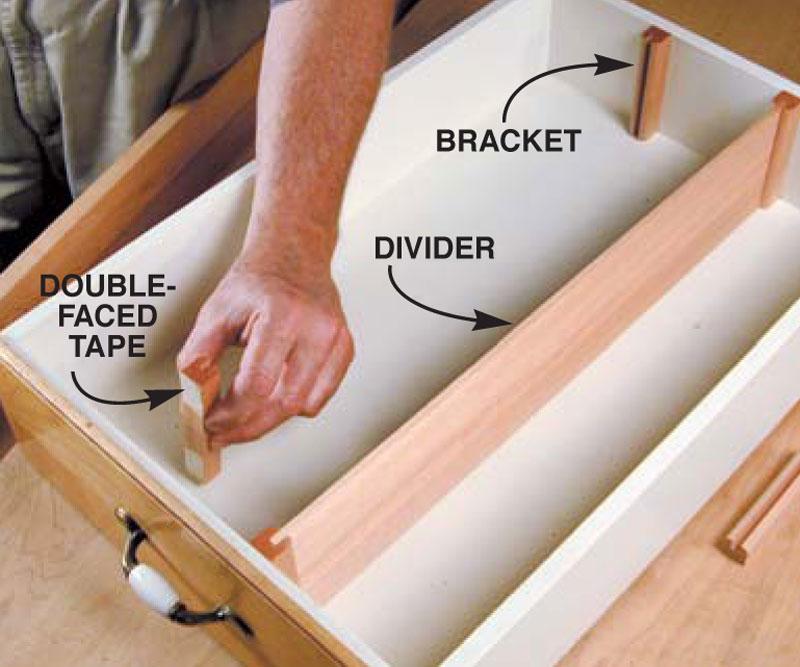 Easy Drawer Dividers