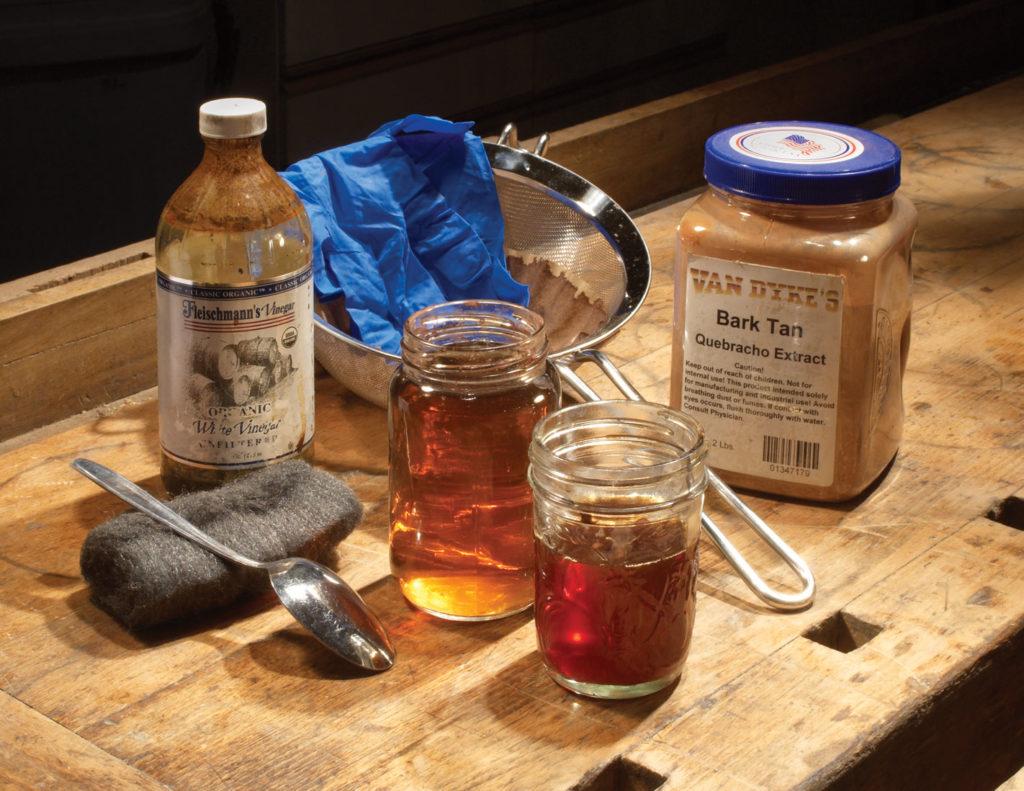 supplies for ebonizing wood