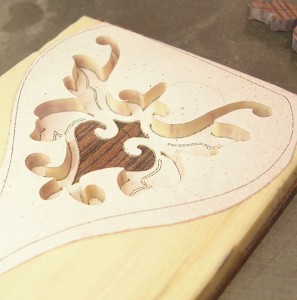 Falling down. The inlay descends into the background.