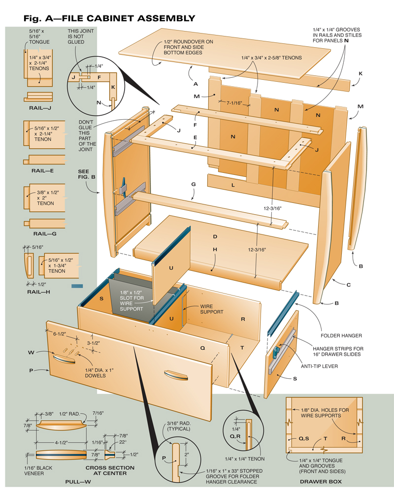 Superbe A: File Cabinet Assembly