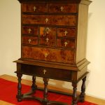 spice chest, walnut, William and Mary
