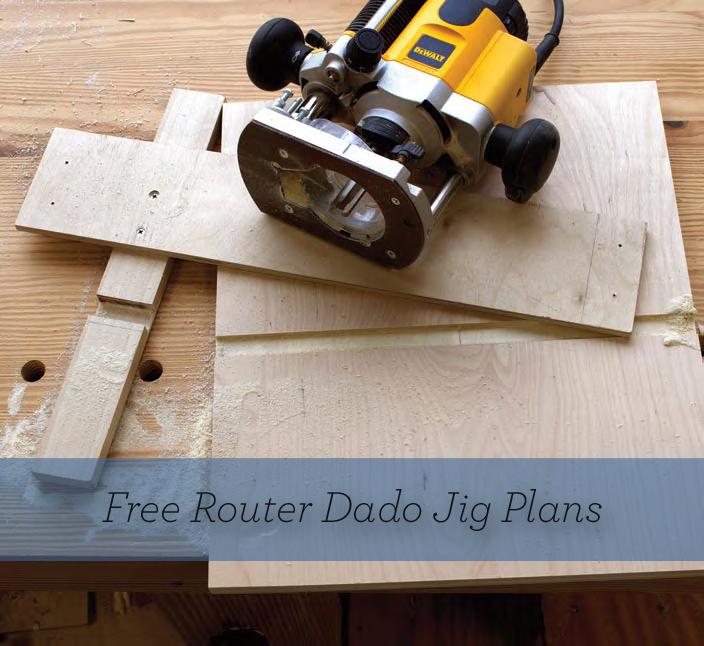 Download free DIY router dado jig plans!