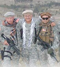 Mark with some of his team in Afghanistan.