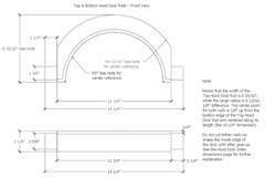 Dimensioned Hood Door Top Rail of a Shaker Tall Clock