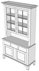 SketchUp help: 6-pane hutch