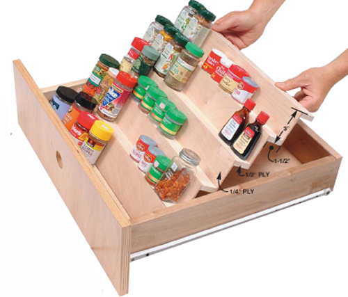 Spice Up a Kitchen Drawer - Popular Woodworking Magazine