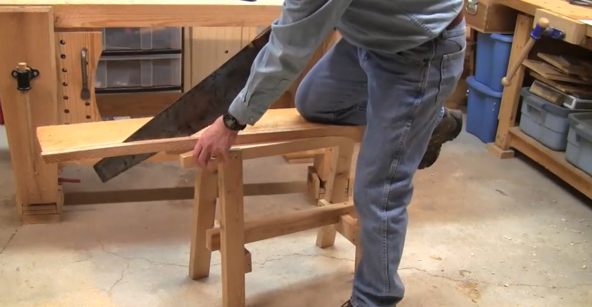 learn to use woodworking hand tools like ripsaws with Steve Branam