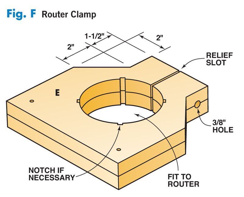 Aw extra 8912 shop made router lift popular woodworking magazine f router clamp keyboard keysfo Image collections