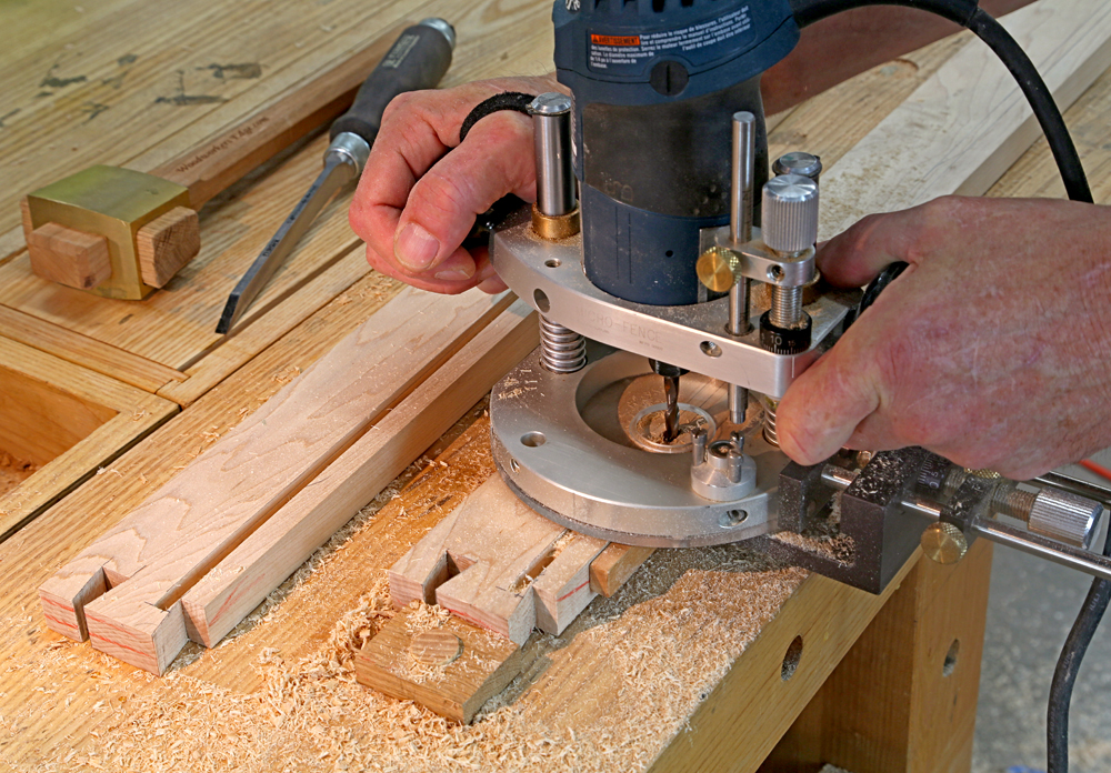Hooray for the router popular woodworking magazine i could see exactly what i was doing as i was doing it i didnt have to flip the work over to cut as would be the case at the router table greentooth Choice Image