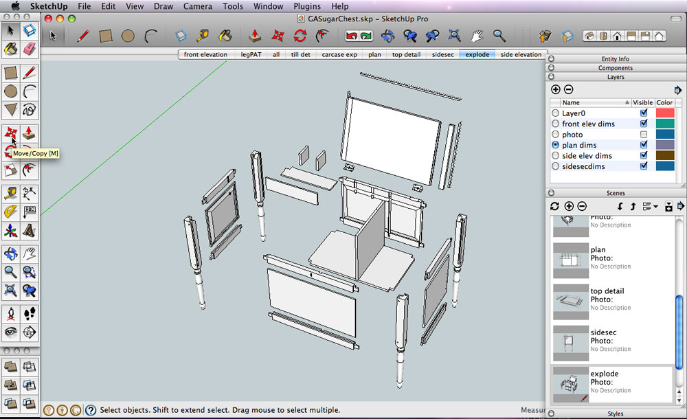 Creating An Exploded View In Sketchup